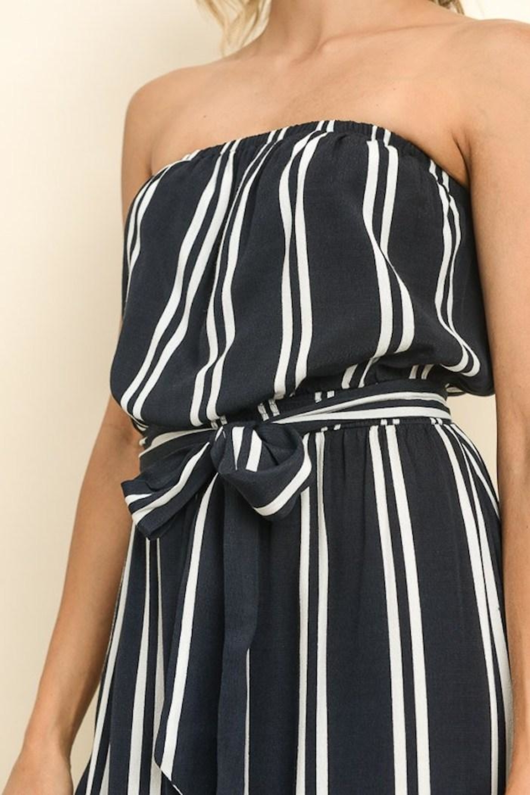 dress forum Striped Culotte Jumpsuit - Side Cropped Image