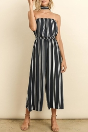 dress forum Striped Culotte Jumpsuit - Front cropped