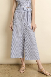 dress forum Striped Culotte Pants - Front full body