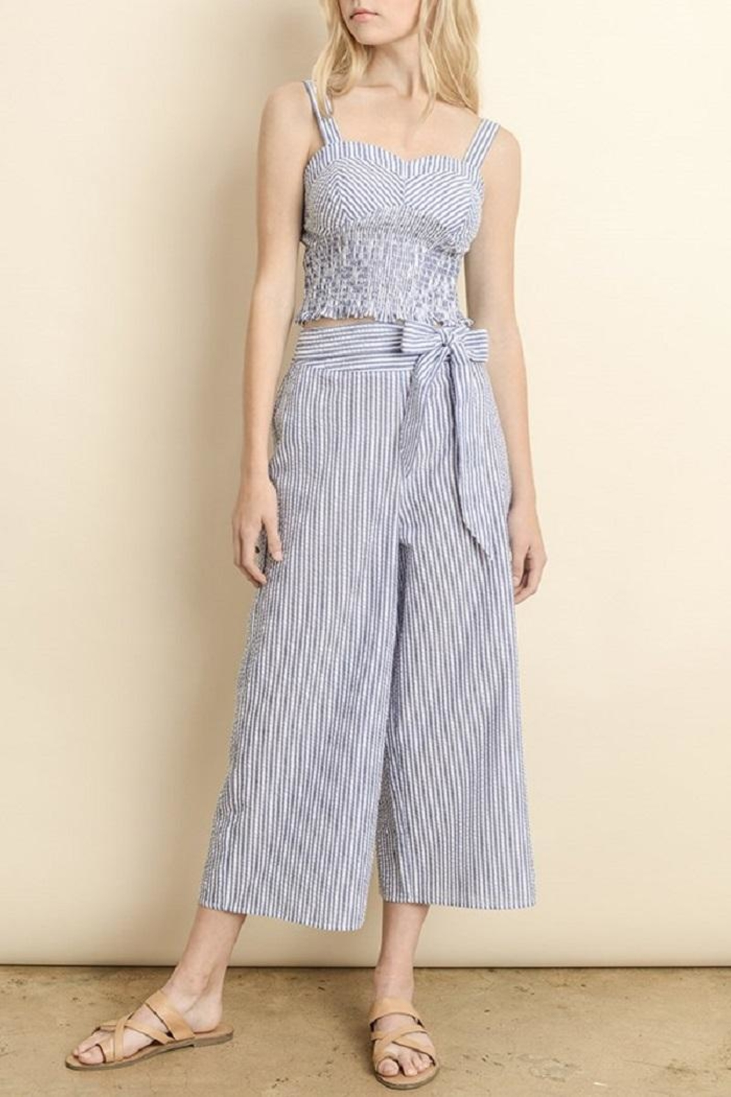 dress forum Striped Culotte Pants - Main Image