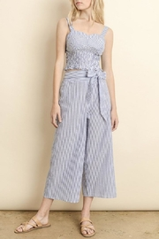 dress forum Striped Culotte Pants - Front cropped