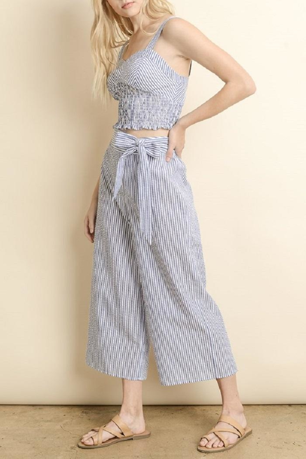 dress forum Striped Culotte Pants - Side Cropped Image
