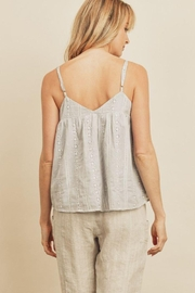 dress forum Striped Eyelet Triangle Cami Top - Side cropped