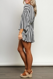 dress forum Striped Kimono-Sleeve Romper - Back cropped