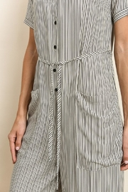 dress forum Button Down Striped Jumpsuit - Back cropped