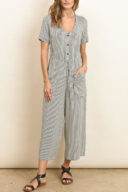 dress forum Button Down Striped Jumpsuit - Other