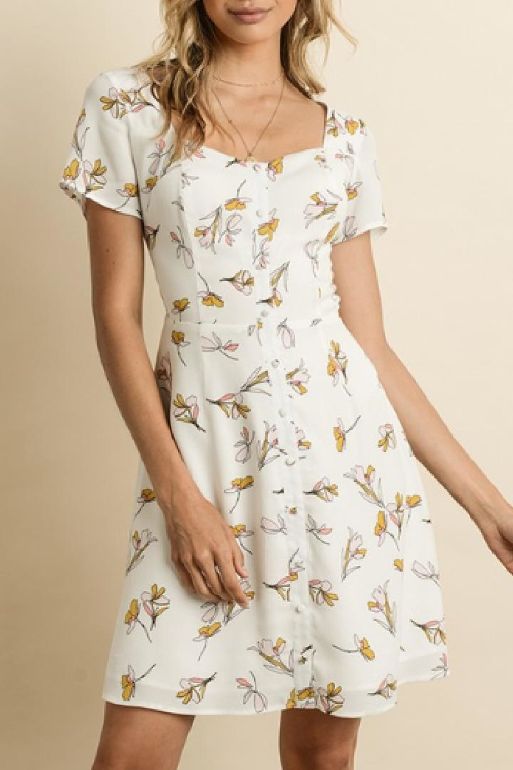 dress forum Sweet Floral Dress - Front Cropped Image