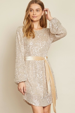 Shoptiques Product: Taupe Sequin Tunic