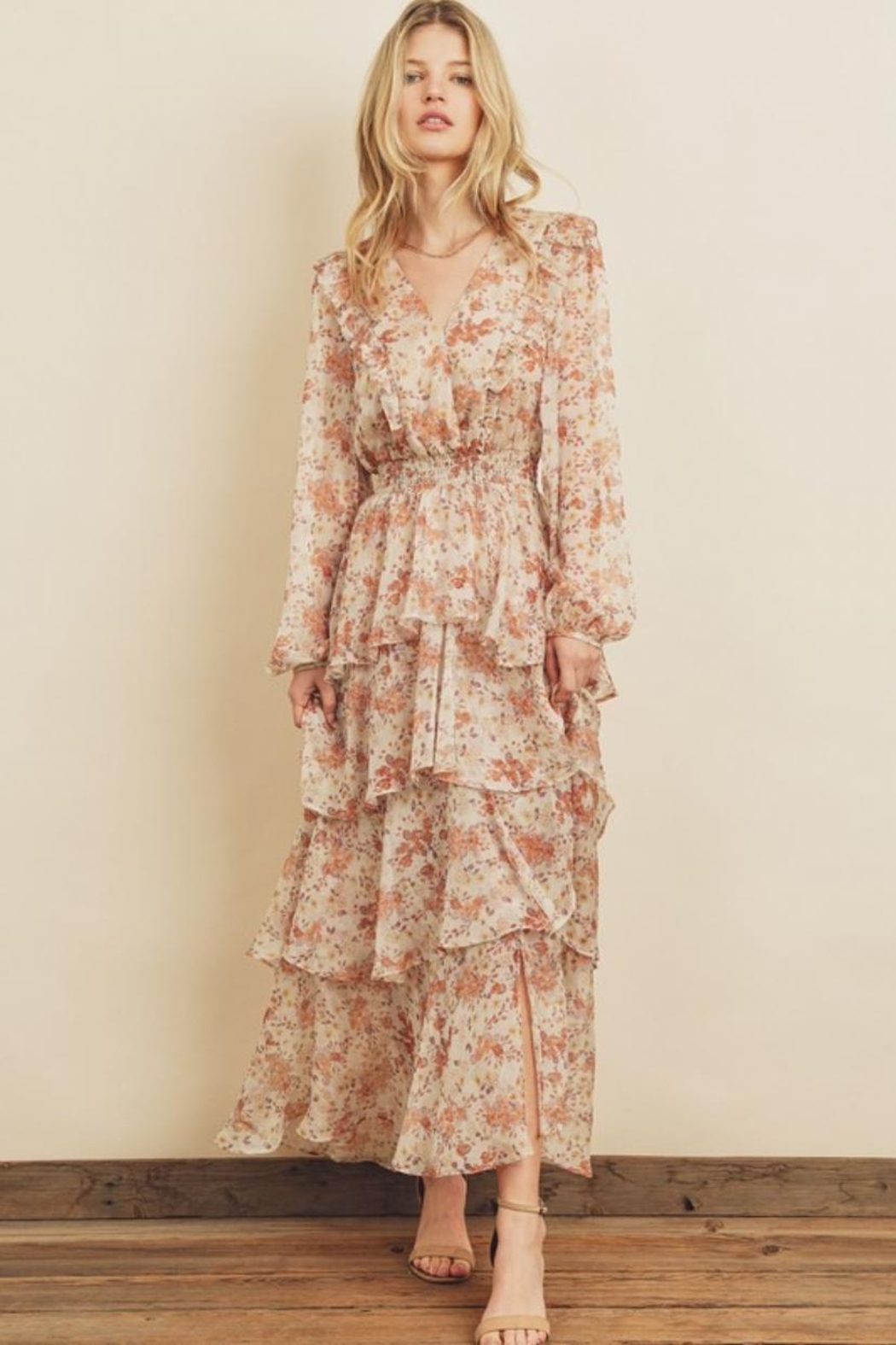 dress forum Tiered Floral Dress - Main Image