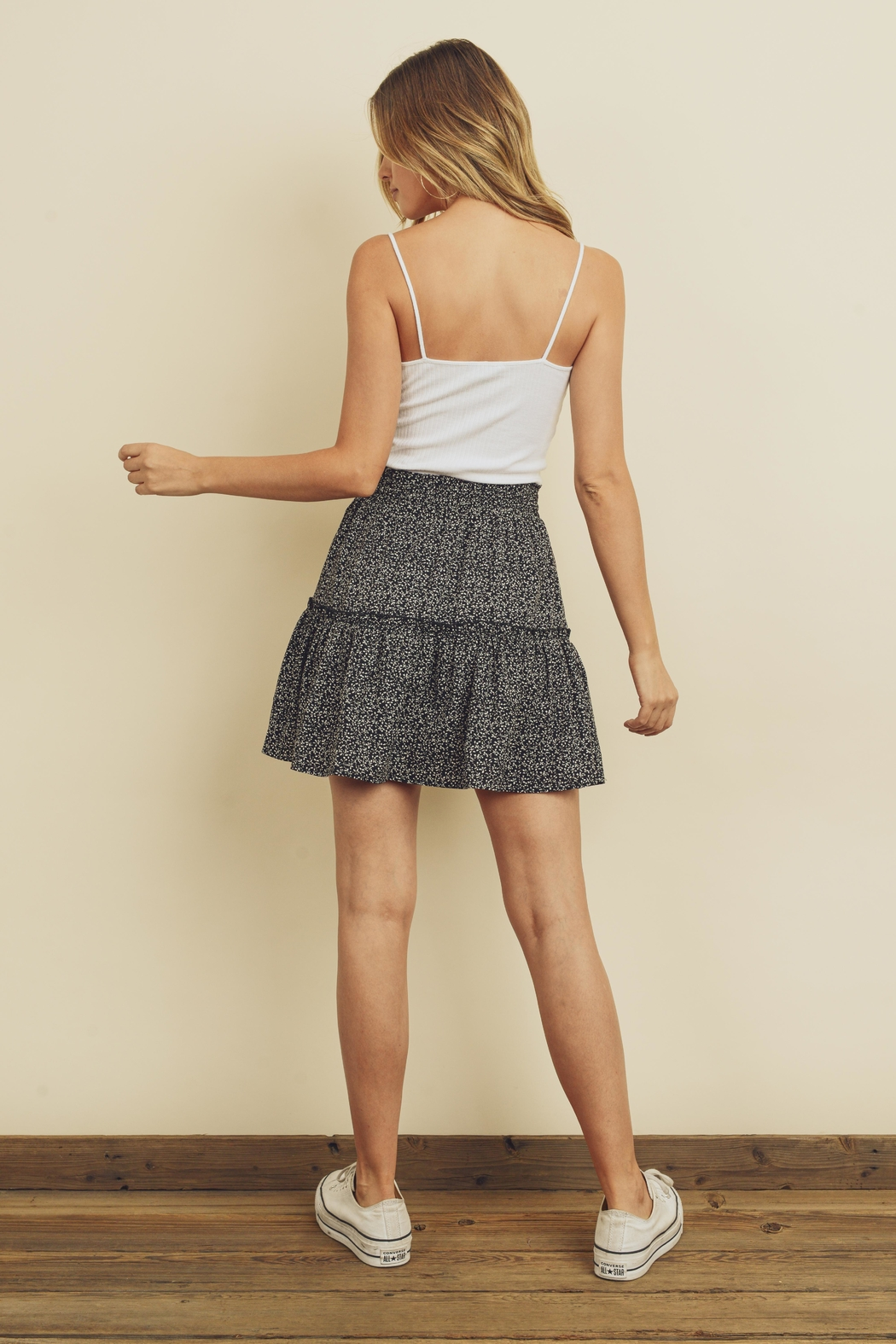 dress forum Tiered Mini Skirt - Side Cropped Image