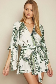 dress forum Tropical Surplice Romper - Side cropped