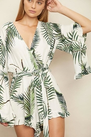 dress forum Tropical Surplice Romper - Back cropped