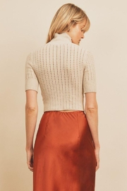 dress forum Turtle Neck Open Stitch Knit Top - Side cropped