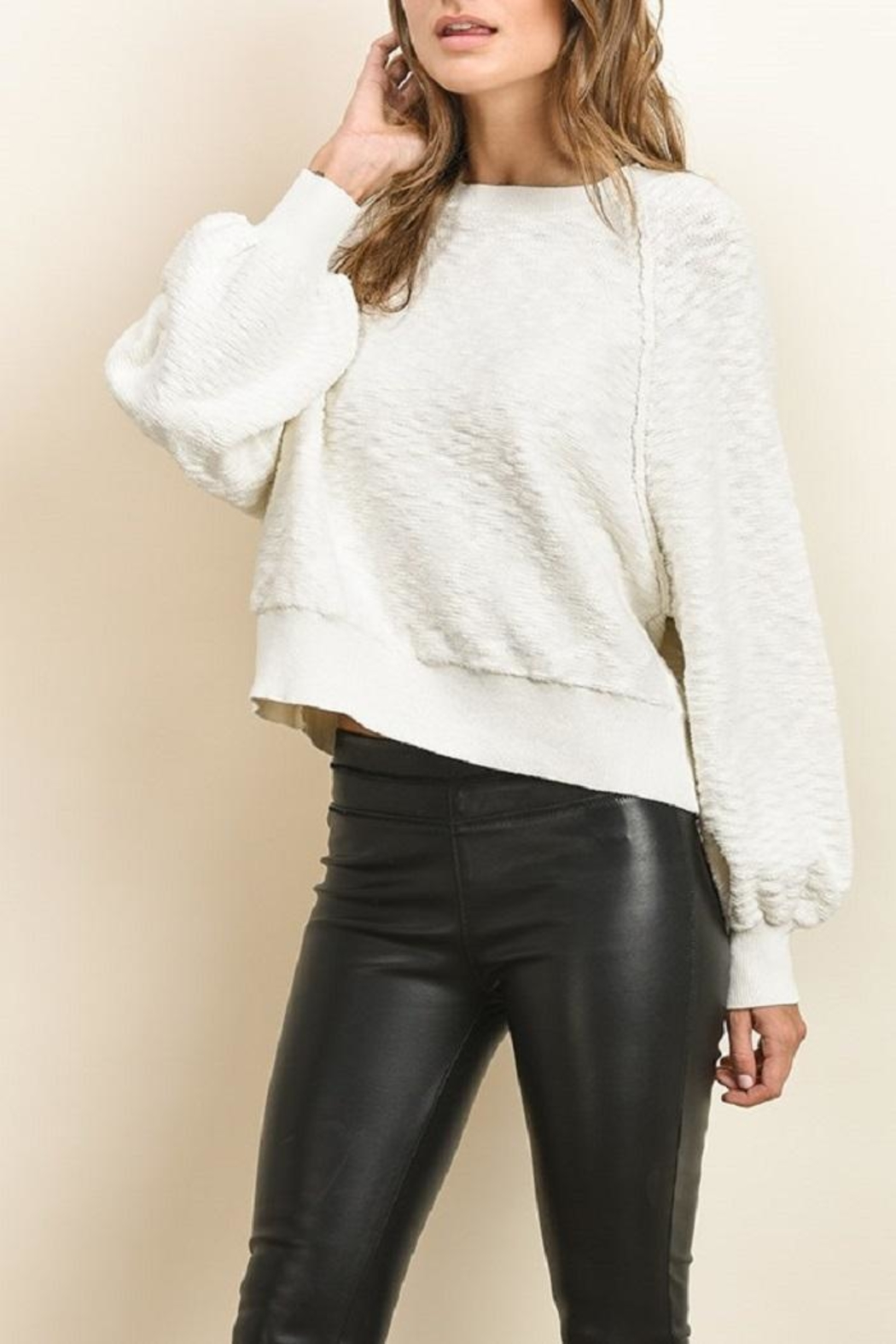 dress forum Wide Long Sleeve Sweater - Side Cropped Image