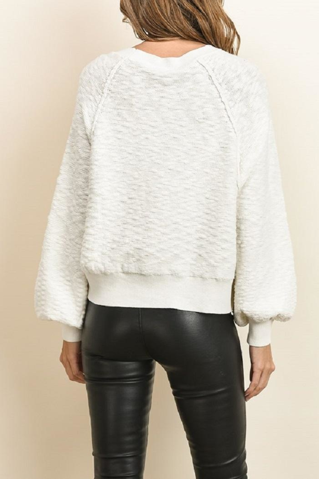 dress forum Wide Long Sleeve Sweater - Back Cropped Image