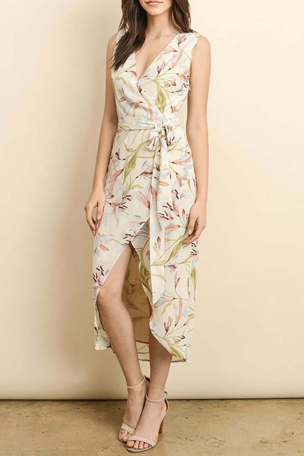 dress forum Wrap Midi Dress - Back Cropped Image