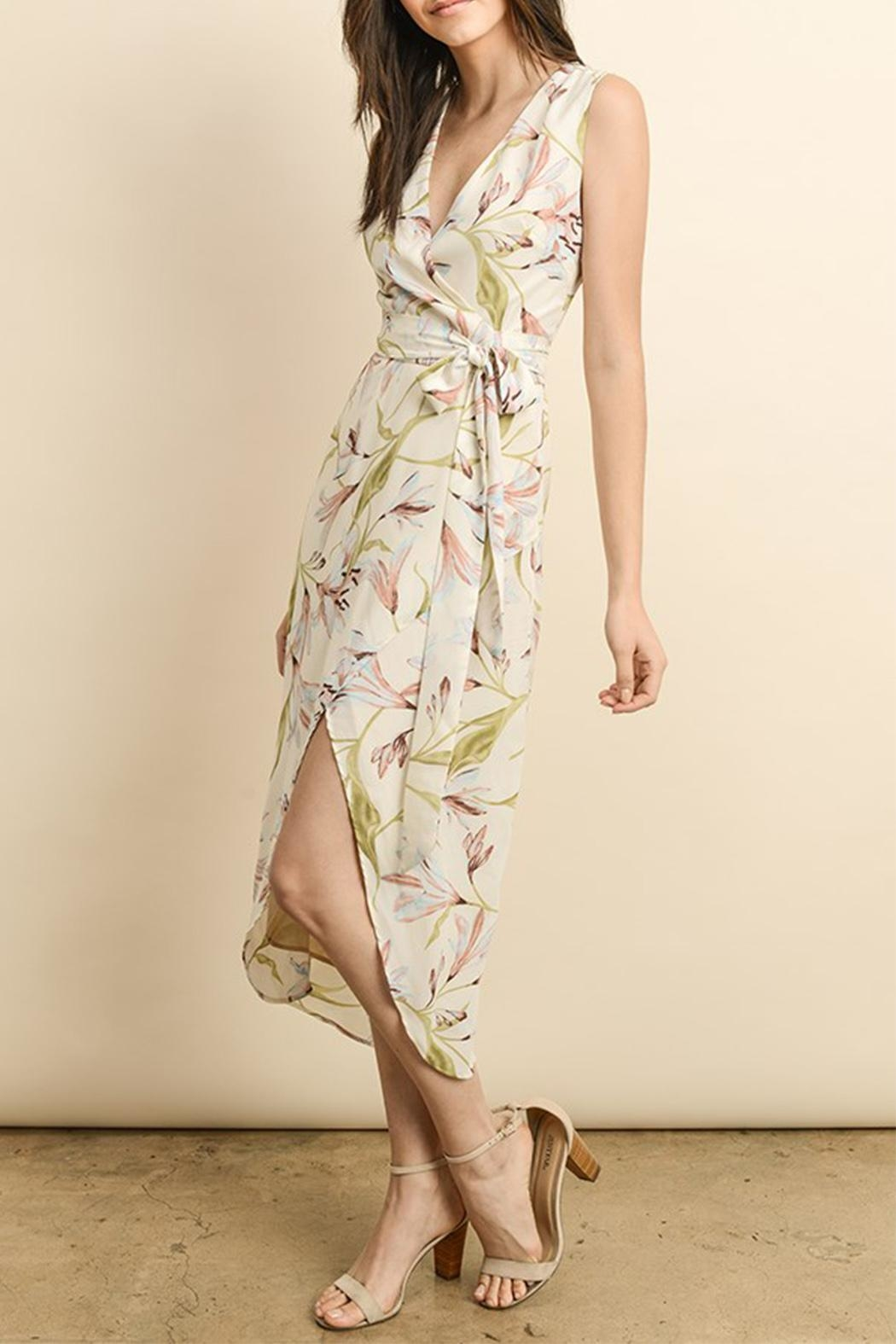 dress forum Wrap Midi Dress - Side Cropped Image