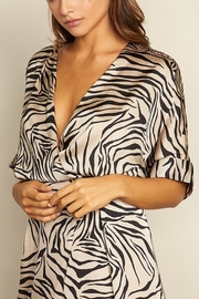 dress forum Zebra Surplice Dress - Side cropped