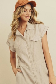 dress forum Zip-Up Utility Romper - Back cropped