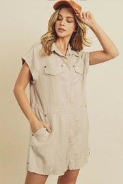 dress forum Zip-Up Utility Romper - Product Mini Image