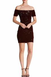 Dress the Population Burgundy Sequin Bodycon Dress - Product Mini Image