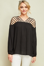 Entro Dressy Cutout Top - Front cropped