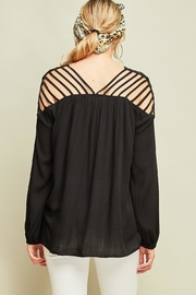 Entro Dressy Cutout Top - Back cropped