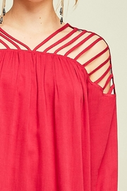 Entro Dressy Cutout Top - Front full body