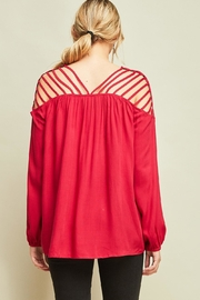 Entro Dressy Cutout Top - Side cropped