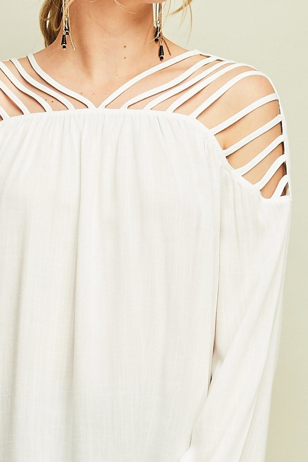 Entro Dressy Cutout Top - Back Cropped Image