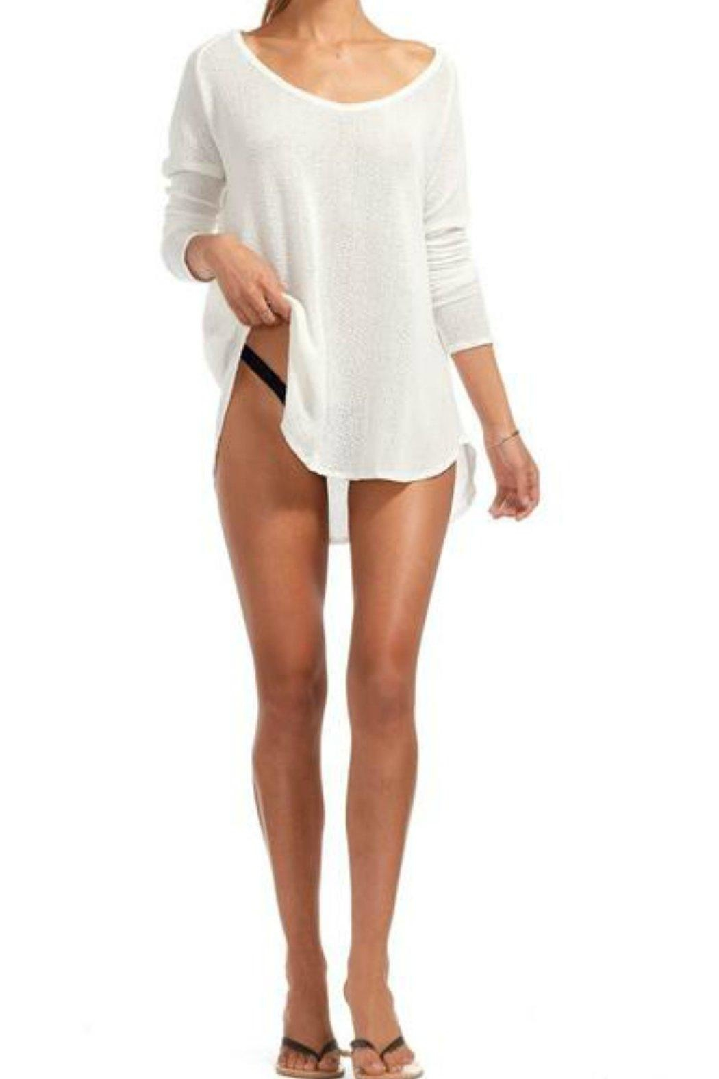 Vitamin A Drifter Beach Sweater - Side Cropped Image