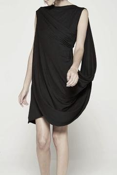 Drifter Black Drape Dress - Product List Image