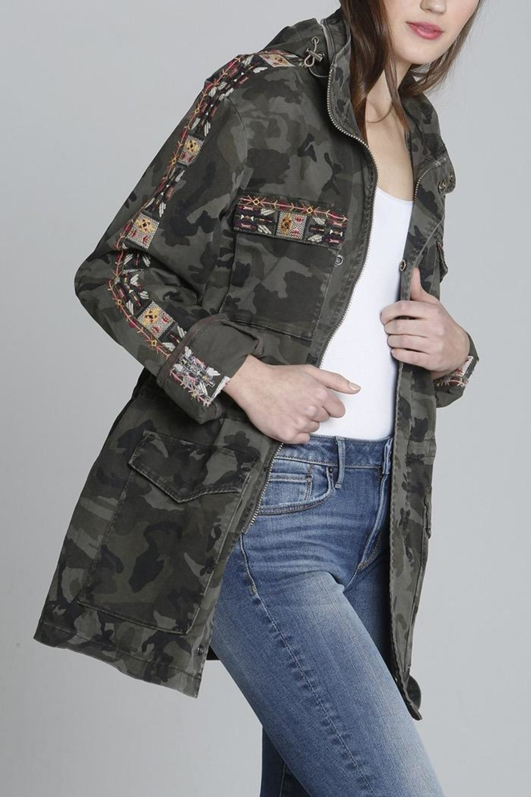 Driftwood Aztec Jacket - Side Cropped Image