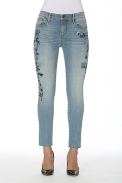 Driftwood Crop Embriodered Jean - Product List Image