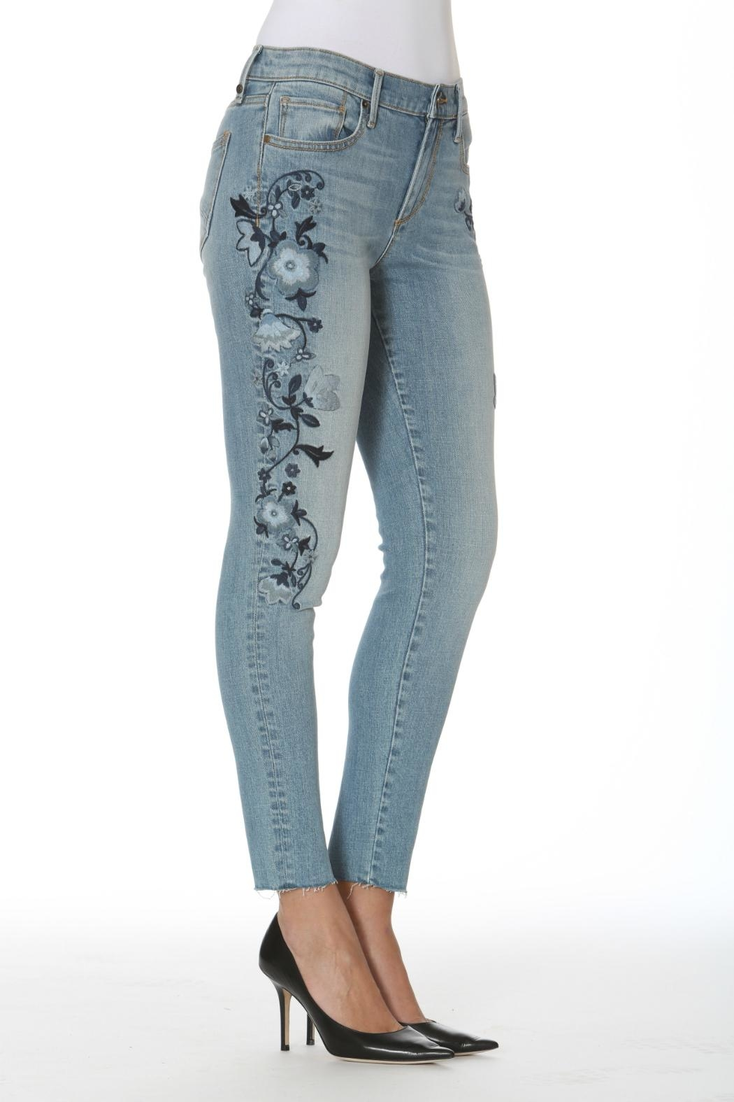 Driftwood Crop Embriodered Jean From New Jersey By