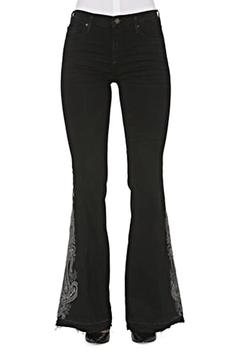 Driftwood Embroidered Flare Jeans - Product List Image