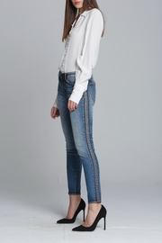 Driftwood Embroidered Skinny Jeans - Front cropped