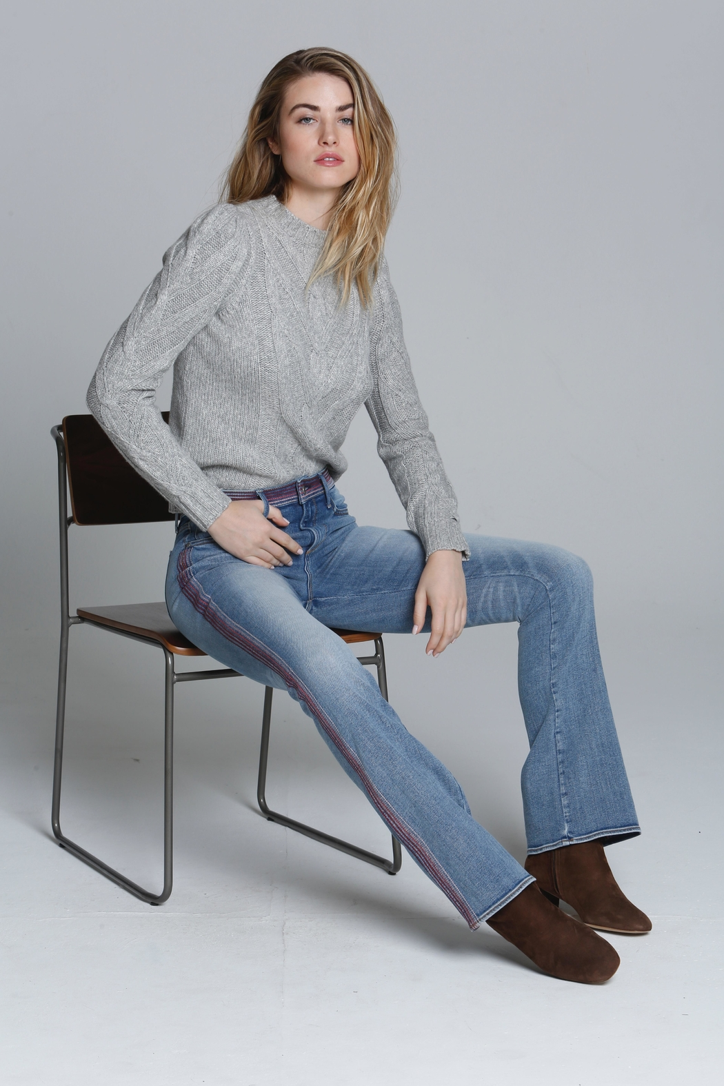 Driftwood Embroidered Stitch Jeans - Main Image
