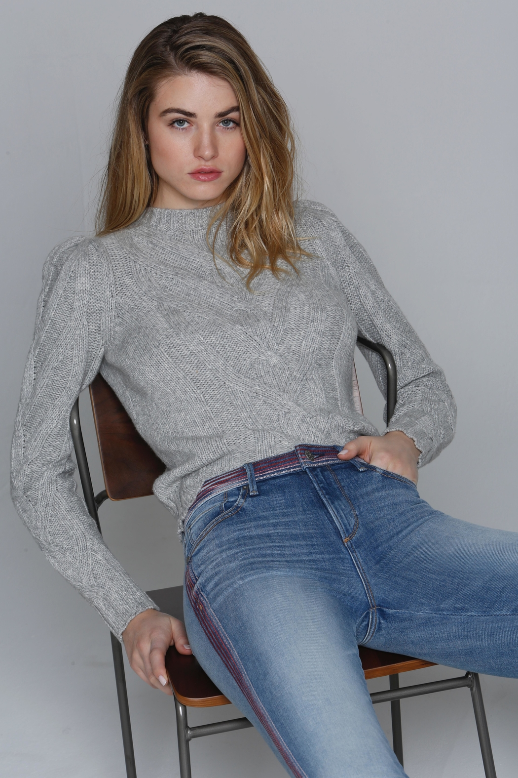 Driftwood Embroidered Stitch Jeans - Front Full Image