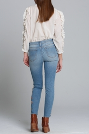 Driftwood Floral Embroidered Jeans - Front full body