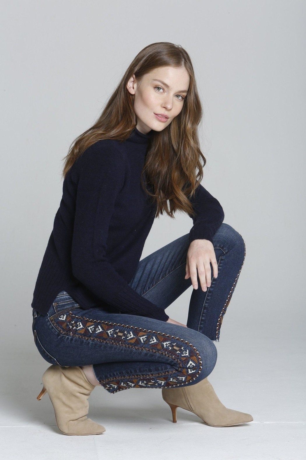 Driftwood Jackie Aztec Jeans - Front Full Image