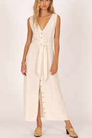 AMUSE SOCIETY Driftwood Linen Dress - Front cropped