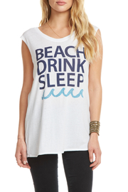 Chaser Drink Beach Sleep Cap Slv Tee - Front cropped