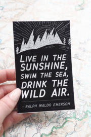 Sentinel Supply Drink the Wild Air Black Emerson Quote Sticker - Product Mini Image