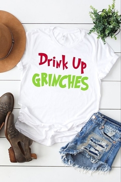 kissed Apparel Drink Up Grinches Tee - Alternate List Image