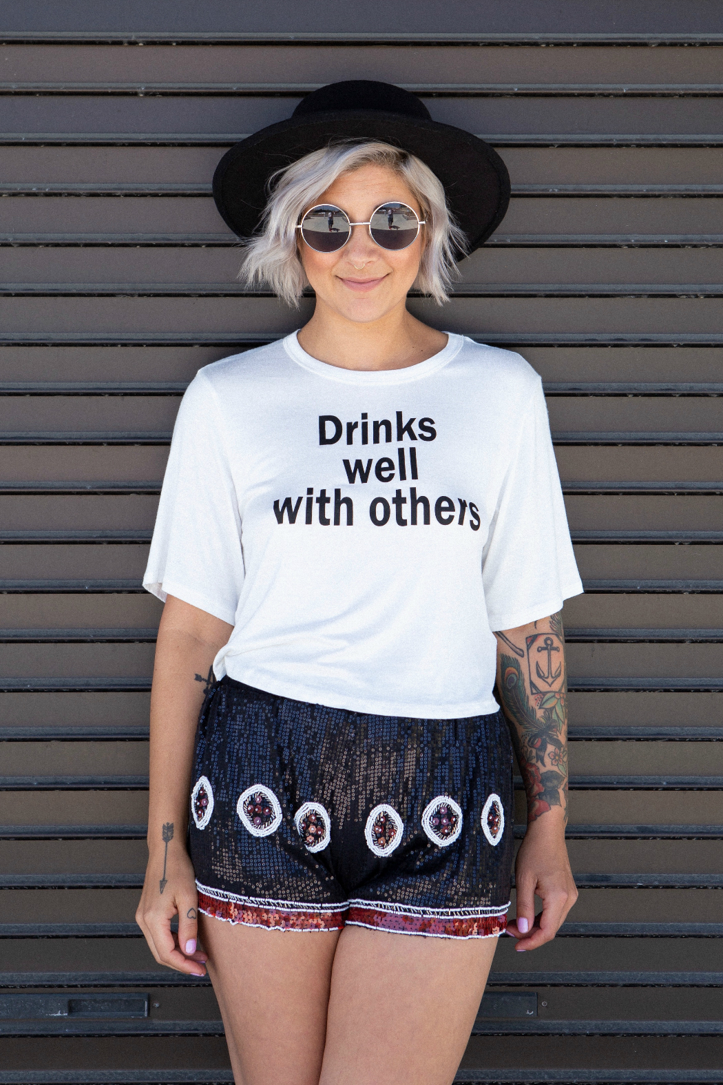 Minx Drinks Well Tee - Back Cropped Image