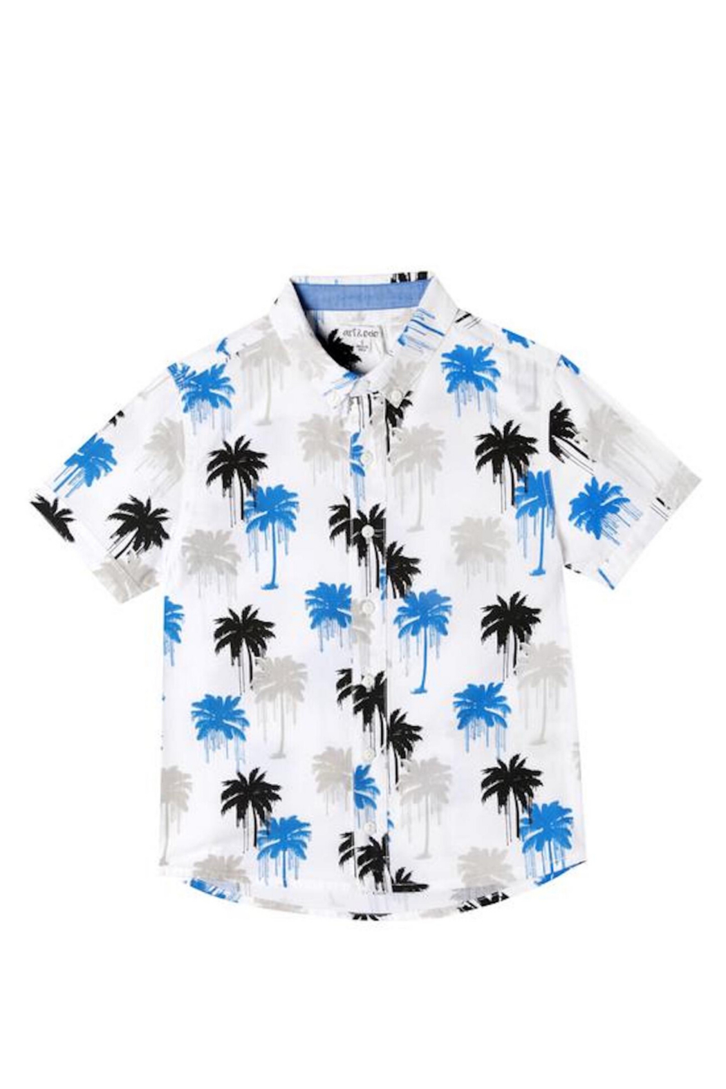 art & eden Drippy trees Button Down - Front Full Image