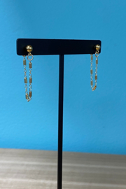 Whim Jewelry Drop Chain Post Earrings - Product Mini Image