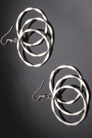 Anju Handcrafted Artisan Jewelry Drop Circle Earring - Front cropped