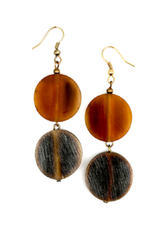 Anju Handcrafted Artisan Jewelry Drop Circle Earring - Alternate List Image